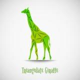 Il verde di vettore triangola la giraffa Immagini Stock