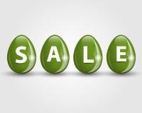 Il verde eggs la vendita Fotografie Stock Libere da Diritti