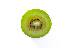 Il verde fresco di Kiwi Slice Half Cut Fruit semina la struttura radiale Detai Fotografie Stock