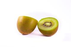 Il verde fresco di Kiwi Slice Half Cut Fruit semina la struttura radiale Detai Fotografia Stock Libera da Diritti