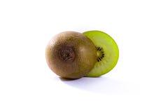 Il verde fresco di Kiwi Slice Half Cut Fruit semina la struttura radiale Detai Immagini Stock