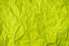 Il verde ha sgualcito la struttura di carta come fondo fotografie stock libere da diritti