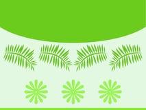 Il verde lascia il reticolo illustrazione di stock