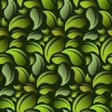 Il verde lascia il reticolo Vettore senza giunte Immagini Stock Libere da Diritti