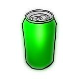 Il verde può Fotografia Stock Libera da Diritti