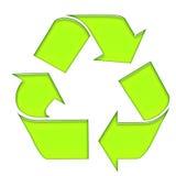 Il verde ricicla Fotografie Stock