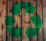 Il verde ricicla il marchio Immagine Stock
