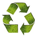 Il verde ricicla il simbolo Fotografie Stock Libere da Diritti
