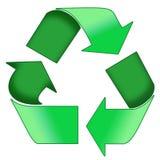 Il verde ricicla il simbolo Fotografia Stock Libera da Diritti