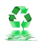 Il verde ricicla il simbolo illustrazione di stock