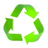 Il verde ricicla il simbolo in 3d Fotografia Stock Libera da Diritti