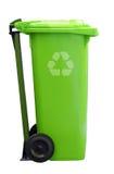 Il verde ricicla la latta di immondizia Fotografia Stock Libera da Diritti
