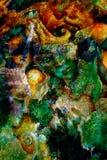 Il verde smeraldo elven la creatura in un regno leggiadramente, variopinta pittura dettagliata bella fantasia Effetto del crepita Fotografia Stock Libera da Diritti