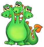 Il verde tre ha diretto il drago Fotografie Stock Libere da Diritti