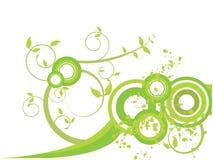 Il verde va con le spirali e spruzza Fotografia Stock Libera da Diritti