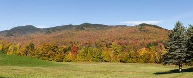 Il Vermont Autumn Panorama Immagine Stock Libera da Diritti