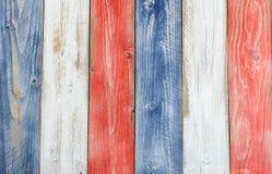 Il verticale ha sollecitato i bordi dipinti nei colori del cittadino di U.S.A. Fotografia Stock