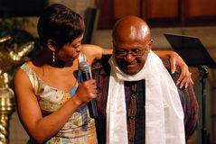 Il vescovo Emeritus Desmond Tutu dell'arco Fotografie Stock