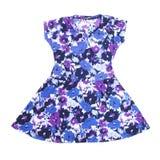 Il vestito del bambino con il modello della flora Fotografia Stock