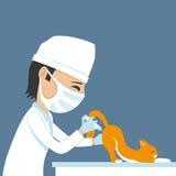 Il veterinario fa l'iniezione royalty illustrazione gratis
