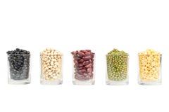 Il vetro dei legumi differenti Fotografia Stock Libera da Diritti