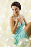 Il vetro di champagne Fotografia Stock