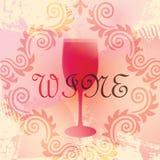 Il vetro di vino stilizzato Immagini Stock