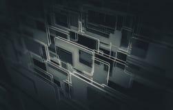 Il vetro riveste il fondo di pannelli Fotografia Stock