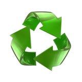 Il vetro verde ricicla il simbolo Fotografia Stock