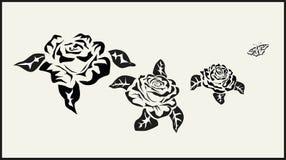 Il vettore è aumentato icone tatuaggio Immagini Stock Libere da Diritti