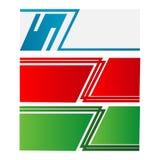 il vettore astratto del modello Web dell'insegna di progettazione con colore verde e blu rosso ha isolato il fondo Fotografie Stock Libere da Diritti