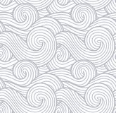Il vettore astratto di struttura, del mare, dell'oceano e del fiume del vento ondeggia il fondo Modello di gray del vapore e del  illustrazione vettoriale