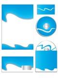 Il vettore blu freddo dell'azienda ha impostato 2 Fotografie Stock