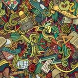 Il vettore del fumetto scarabocchia la struttura disegnata a mano della scuola Immagini Stock Libere da Diritti