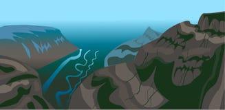 Il vettore del paesaggio della montagna illustrazione di stock