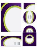 Il vettore dell'azienda ha impostato con i colori chiari Fotografie Stock