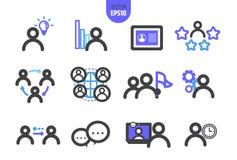 Il vettore dell'organizzazione illustra la linea icona illustrazione vettoriale