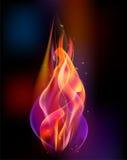 Il vettore della torcia del fuoco ha colorato l'ustione delle scintille royalty illustrazione gratis