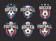 Il vettore di calcio simbolizza l'insieme royalty illustrazione gratis