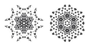 Il vettore di Israel Jew Ethnic Fractal Mandala assomiglia al fiocco di neve o Immagine Stock