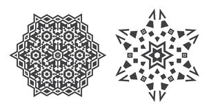 Il vettore di Israel Jew Ethnic Fractal Mandala assomiglia al fiocco di neve o Immagini Stock Libere da Diritti