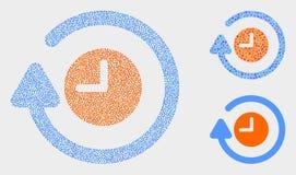 Il vettore di Pixelated gira le icone in senso orario royalty illustrazione gratis
