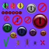 Il vettore di simboli del segno della formica di arresto e della formica progetta Fotografia Stock Libera da Diritti