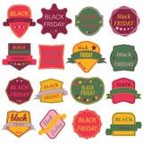 Il vettore di vendita di Black Friday Badges ed etichette Immagine Stock Libera da Diritti
