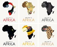 Il vettore fissato con le strutture africane traccia le illustrazioni illustrazione vettoriale