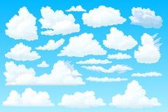 Il vettore ha modellato l'insieme lanuginoso della nuvola illustrazione vettoriale