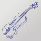 Il vettore ha schizzato il violino illustrazione vettoriale