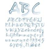 Il vettore ha schizzato l'alfabeto illustrazione di stock