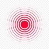 Il vettore medico della medicina di dolore della droga dell'antidolorifico di dolore rosso del cerchio ha isolato l'icona royalty illustrazione gratis