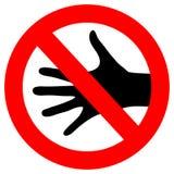 Il vettore non tocca il segno royalty illustrazione gratis